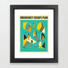 EMERGENCY ESCAPE PLAN 1 Framed Art Print