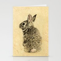 rabbit Stationery Cards featuring Rabbit by Anna Shell