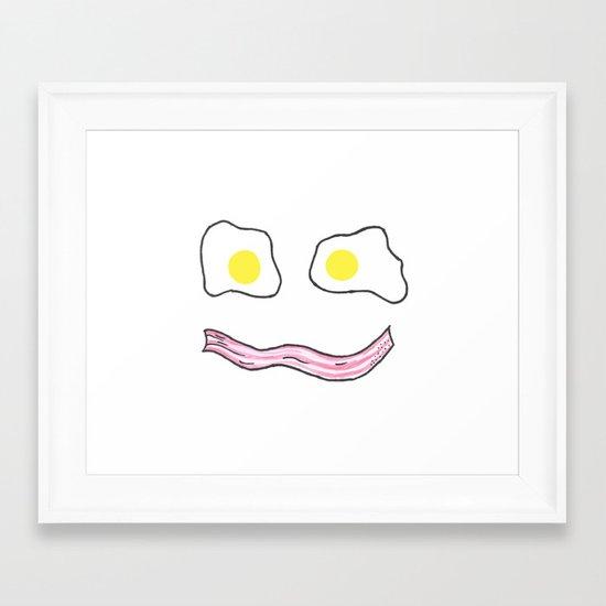 Wakey Wakey Eggs and Bakey Framed Art Print