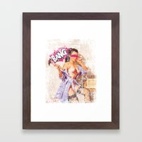 The Distracted Housewife Framed Art Print