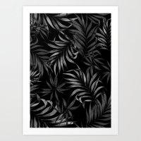 Dark Palms Art Print