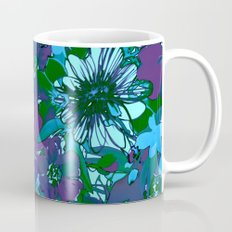 floral melodie in purple Mug