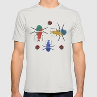 playful insects Mens Fitted Tee Silver SMALL