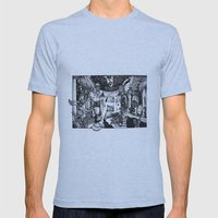 Alice in Wonderland Mens Fitted Tee Athletic Blue SMALL