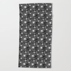 Bright stylish trendy wallpaper with dandelion seeds Beach Towel