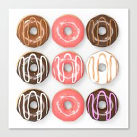 So Many Donuts Canvas Print