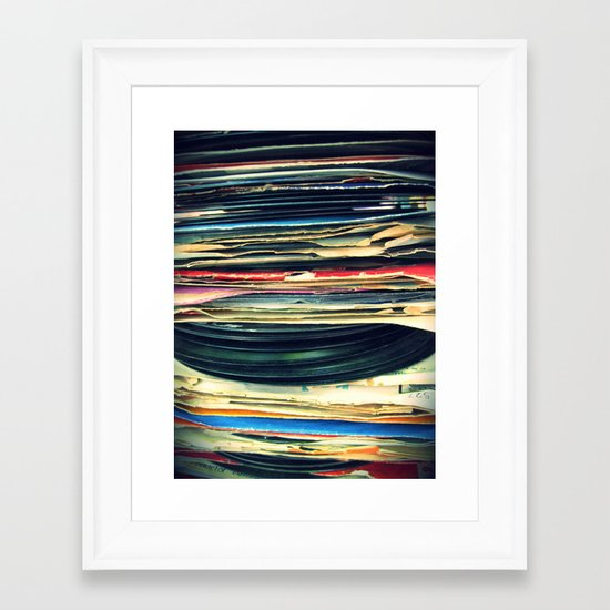 put your records on Framed Art Print