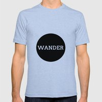 WANDER Mens Fitted Tee Tri-Blue SMALL