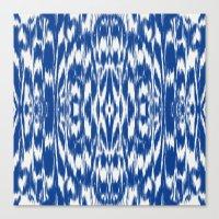 Ikat: Nautical Blue  Canvas Print