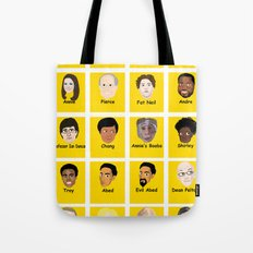 Community Guess Who Faces Tote Bag