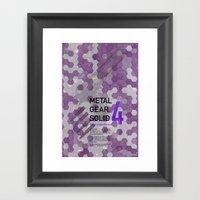 Metal Gear Solid 4: Guns… Framed Art Print