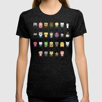 Ad Venture Time Alphabet Womens Fitted Tee Tri-Black SMALL