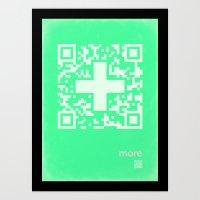 QR more Art Print