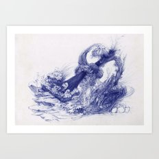 Wave Whip Art Print