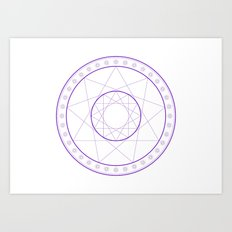 Anime Magic Circle 8 Art Print