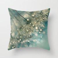 Indigo Sparkles Throw Pillow
