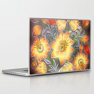 Shabby Flowers #3 Laptop & iPad Skin