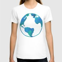 Earth Day Womens Fitted Tee White SMALL