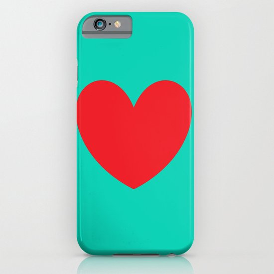 Red heart iPhone & iPod Case