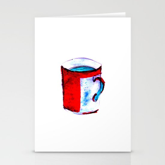 big coffee cup Stationery Card