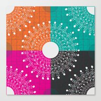 Beauty  multicolour Canvas Print