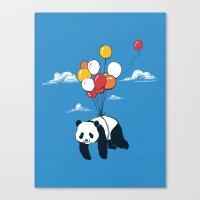 Flying Panda Canvas Print