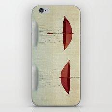 embracing the rain iPhone & iPod Skin