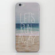 Let's Run Away: Sandy Be… iPhone & iPod Skin