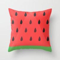 Watermelon Slice Throw Pillow