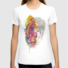 Breathe In Colour Womens Fitted Tee White SMALL