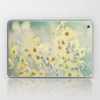 Pastel Wildflowers Yellow Helianthus Daisies -- Botanical Landscape Laptop & iPad Skin