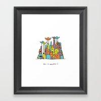 Monster Tower II Framed Art Print