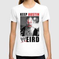 Keep Austin WWEird Womens Fitted Tee White SMALL