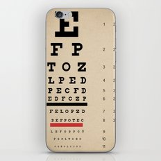 Vintage Inspired Eye Chart - Visual Acuity - Vintage Eye Chart - Distressed Canvas Textured iPhone & iPod Skin