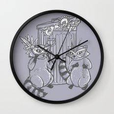 Fancy Raccoons Wall Clock