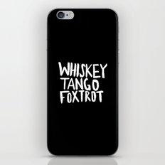 Whiskey Tango Foxtrot x WTF iPhone & iPod Skin
