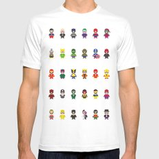 Really Super Mario vs Really Super Wario SMALL Mens Fitted Tee White