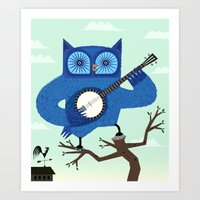 The Banjowl Art Print