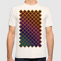Geometric Abstraction. Mens Fitted Tee Natural SMALL