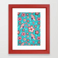 Exotic Flowermix Framed Art Print