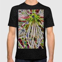 Abstract Glowing Amaryll… Mens Fitted Tee Tri-Black SMALL