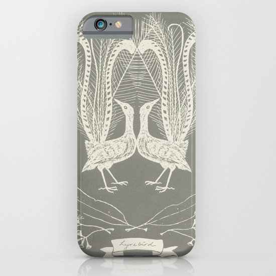 Lyrebird (smoke grey) iPhone & iPod Case