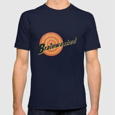 Brainwashed Mens Fitted Tee Navy SMALL