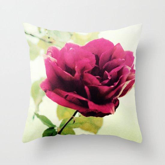 January Rose Throw Pillow