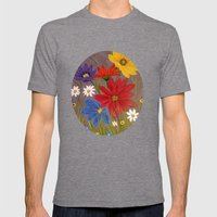 Wildflower-2 Mens Fitted Tee Tri-Grey SMALL
