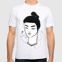 Kabuki.mp3 Mens Fitted Tee Ash Grey SMALL