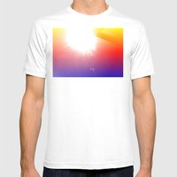 HE'S BACK Mens Fitted Tee White SMALL