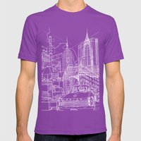 New York B&W (Dark T-shi… Mens Fitted Tee Ultraviolet SMALL