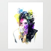 Milla Fashion Portrait G… Art Print