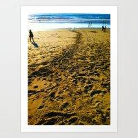 Sand Trail Art Print